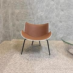 Fiberglass Shell Leather Seat Leisure Stylel Do Maru Lounge Chair