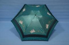 德厚雨伞出口广告伞定做五折遮阳伞