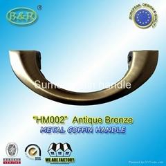 HM002 metal coffin handle steel casket handle bronze color