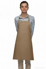 Bib apron without pockets
