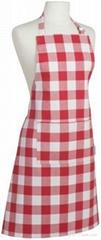 Picnic red stripe bib apron