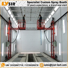 LYSIR Custom Spray Booths 3D Man Lift Spray Paint Booth For Sale