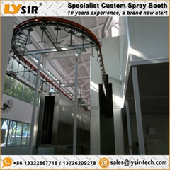 LYSIR Industrial Recirculating Paint Booth Customized Painting Spraying Booth