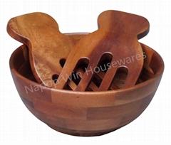 Acacia Wood Salad Bowl