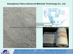 hydrophobic pp spunbond nonwoven fabric for backsheet of baby &adult diaper
