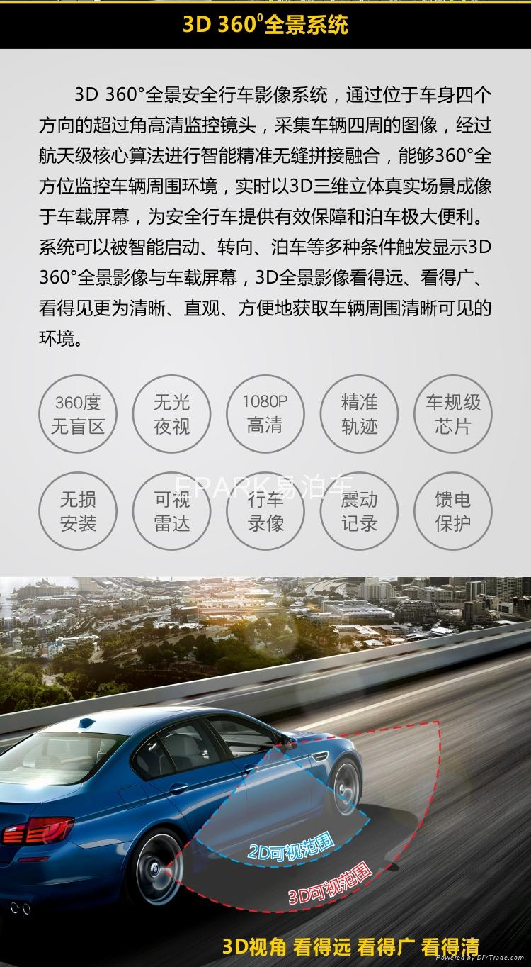 3D 360度全景行车安全影像系统 3
