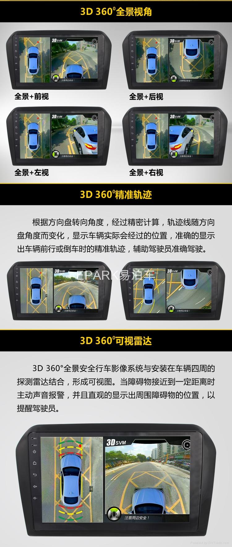 3D 360度全景行车安全影像系统 5