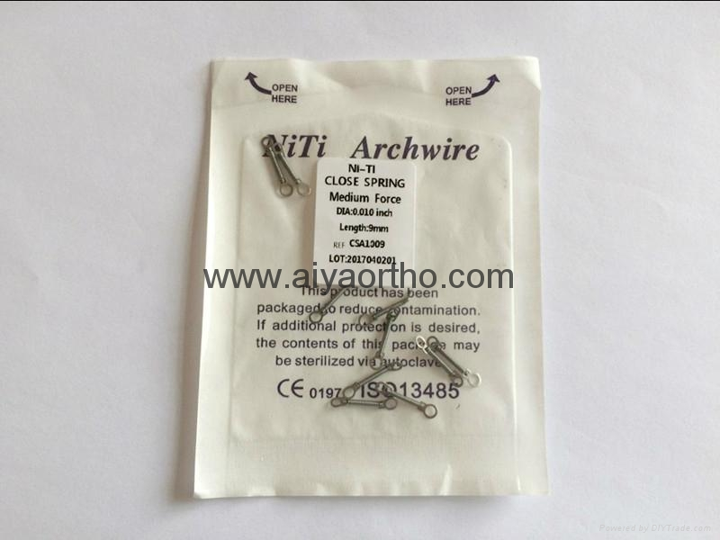 dental coil closed spring orthodontic 1