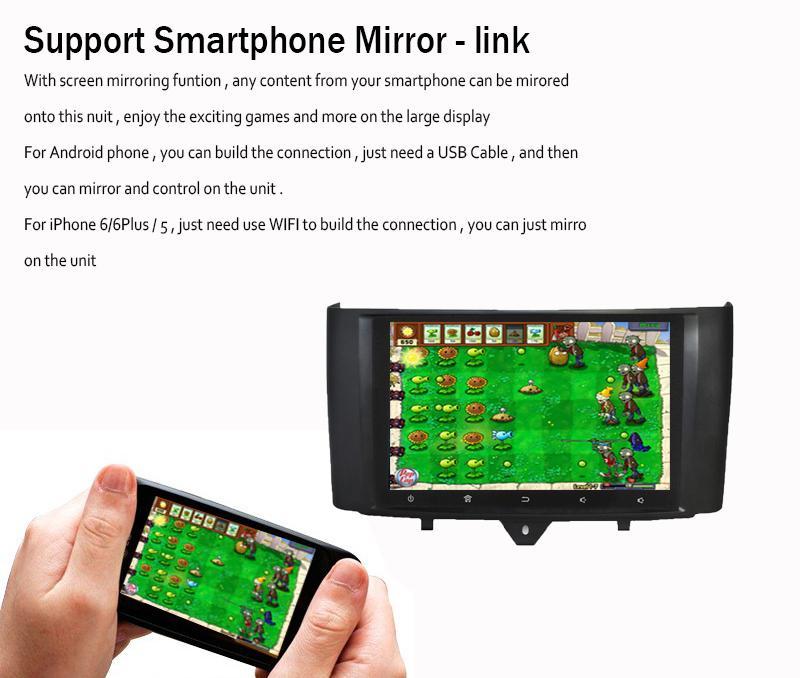 TOPMAVI 9'' Benz Smart Auto Player DVD Navigation GPS 2010-2015 2