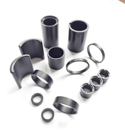 高性能粘結釹鐵硼磁環磁瓦等工廠加工定製 1