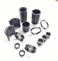 高性能粘结钕铁硼磁环磁瓦等工厂加工定制