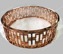 Custom Design Rose Gold Stainless Steel Table Leg
