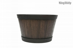 13in whiskey barrel planter