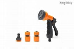 8-pattern plastic water nozzle set w/ quick connectors