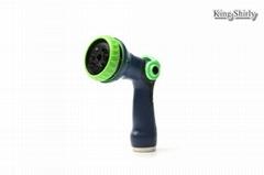 8-pattern water nozzle w/ thumb switch