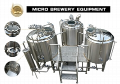 500l 3-vessel beer brewery equipment