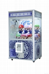 low price plush toys crane machines China blue - Giant Version game machine for