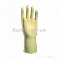 "12"" 30g Natural Unlined Household Latex Glove"