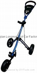 Cruiser Lx Deluxe 3 Wheel Push Cart - Blue