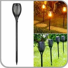 96 LED Solar Path Dancing Flames LED Wireless Flickering Torches Lantern light