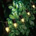 Solar LED string lights with Vintage