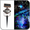 NEW Outdoor Solar Powered Outdoor Stage Lighting RGB Effect Laser Projector