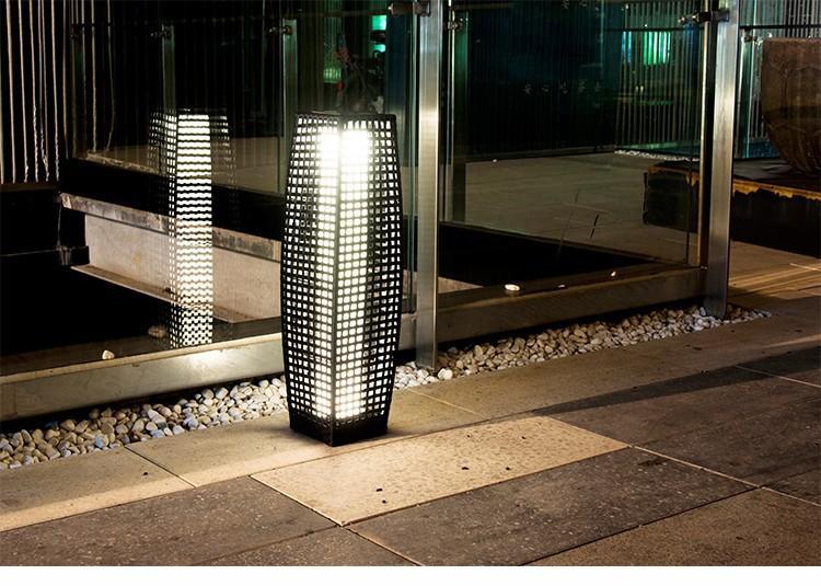 Rattan Solar Pillar Lantern,solar garden lighting,solar led landscape lighting 2