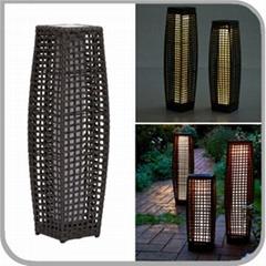 25 LED Waterproof Super Bright Rattan Floor LED Solar Garden Light Lamp For Deco