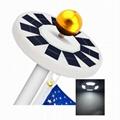 128 LED solar flagpole light solar camping light outdoor floodlight