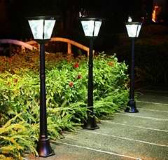 2 in 1 super bright Cast Aluminum solar post lamp outdoor garden lights