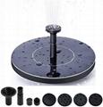 Solar Powered Fountain Pump, Solar Birdbath Fountain, Free Standing Floating Bir