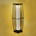 Rattan Solar Pillar Lantern,solar garden lighting,solar led landscape lighting 3
