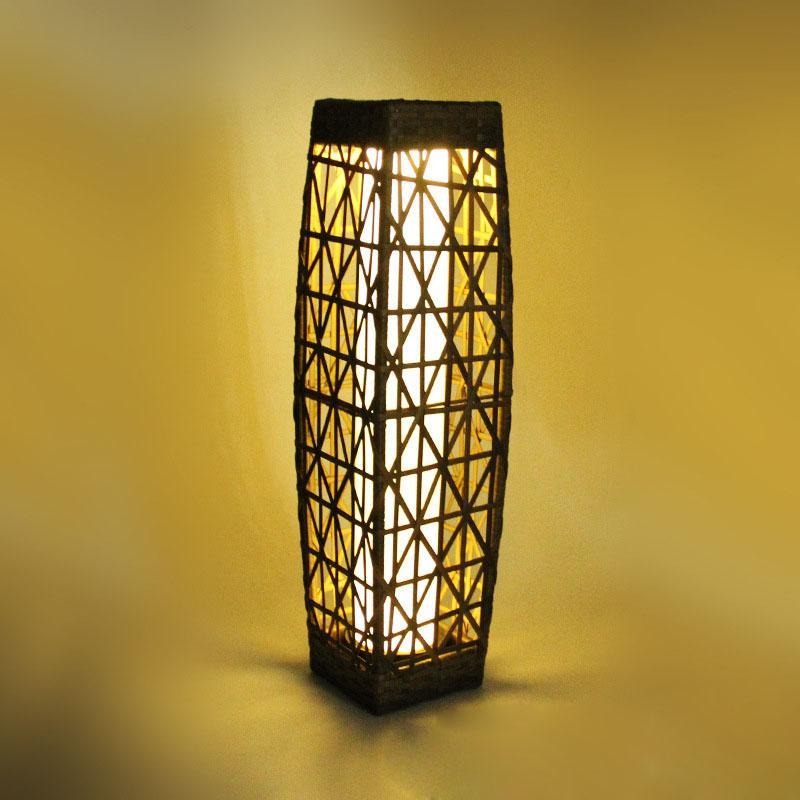 Rattan Solar Pillar Lantern,solar garden lighting,solar led landscape lighting 4