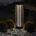 Rattan Solar Pillar Lantern,solar garden lighting,solar led landscape lighting 5