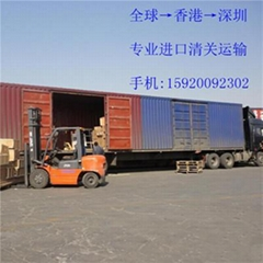法国进口快递到中国空运香港中转清关到广州