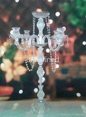Small Golden & Si  er Wedding Decotation Crystal Candle Holder