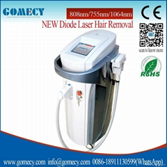 3 in1 wavelength best nice epilator 808nm diode laser with good quality