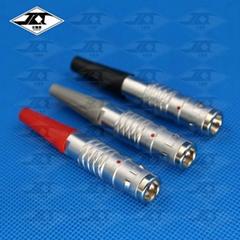 推拉自鎖微型圓形工業設備連接器