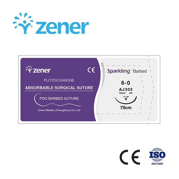 Sparking Barbed- Absorbable surgical suture (PDO barbed suture) Barbed suture