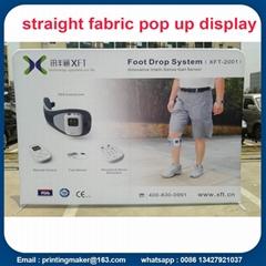 Single Side Printed Straight Fabric Pop Up Displays