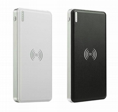 NEW DESIGN  2A fast charging Qi dual usb 10000mah wireless charger power bank