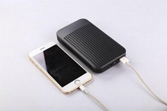 NEW DESIGN REAL 5000mah Li-polymer USB Charger  with Bluetooth speaker