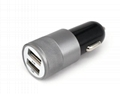 Car Charger  Fast Charger Cheap 2.1A Dual USB  Car Charger With LED Light   2