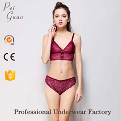 red bralette lingerie sexy hot lace new style ladies underwear sexy bra panty