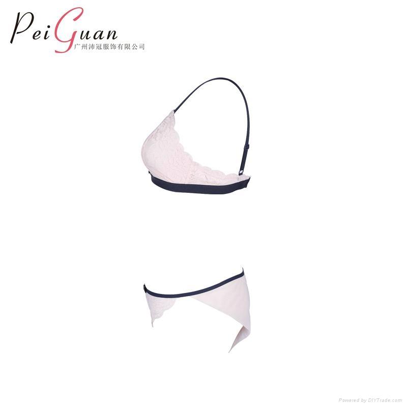 3bffa2979ec34 Women super soft lac bra panty top seamless unpadded bralette cup wireless  bra