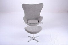 Arne Jocobsen Egg chair with Craggan covering
