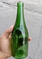 绿色玻璃瓶翠绿玻璃酒瓶