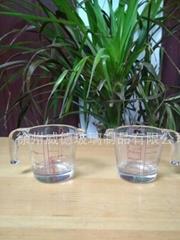 玻璃杯小把杯小量杯刻度杯口出玻璃杯厨房量杯小杯子订制小杯子