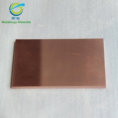 High pure metal copper Cu target