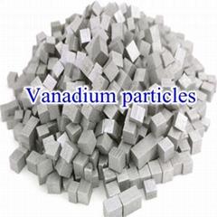 Highly pure vanadium particle